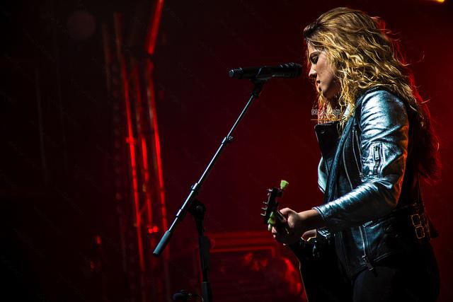 Miriam Rodríguez en su concierto en Madrid-Foto myipop